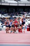 London bereitet sich vor: Olympische Prüfungsereignisse Stockfotografie
