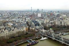 London beskådar från över Royaltyfria Foton