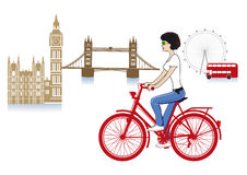 London on a bicycle Stock Images