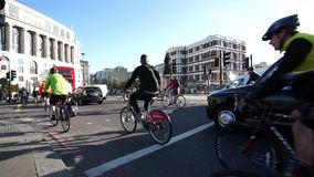 London Bicycle Commuter stock footage
