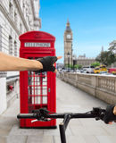 London in bicycle Stock Image