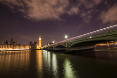 London. Big Ben and British parliament Westminster Bridge  Thames River London Stock Photos
