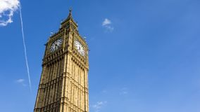 London Big Ben in clear blue sky royalty free stock photography