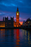 London. Big Ben clock tower. Royalty Free Stock Photography