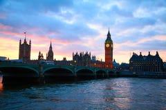 London. Big Ben clock tower. Stock Image