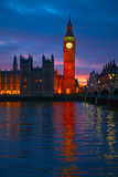 London. Big Ben clock tower. Royalty Free Stock Photo
