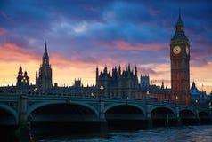 London. Big Ben clock tower. Royalty Free Stock Images