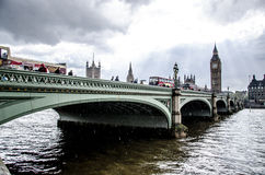 London - Big Ben - Cloudy Rain Royalty Free Stock Photo