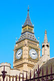 London big ben and   construction england  aged Royalty Free Stock Image