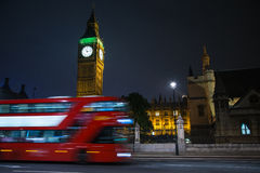 London Big Ben and double decker bus Royalty Free Stock Image