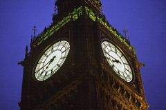 London Big Ben at dusk. The Big Ben at dusk, London royalty free stock photo