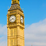London big ben and historical old construction england  aged cit Royalty Free Stock Images