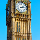 London big ben and historical old construction england  aged cit Royalty Free Stock Image