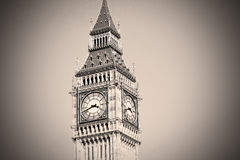 London big ben and historical old construction england  aged cit Royalty Free Stock Photos