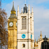 London big ben and    historical old construction england  aged cit Stock Image