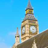 London big ben and historical old construction england  aged cit Royalty Free Stock Photography