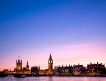 London Big Ben, House of Parliament and Thames river Stock Photography