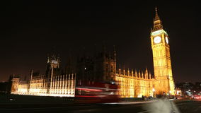 London: Big Ben and Houses Of Parliament. stock video footage
