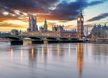 London - Big ben and houses of parliament, UK Royalty Free Stock Photos