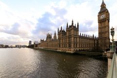 London - Big ben and houses of parliamen Royalty Free Stock Photography