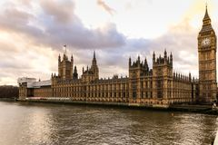 London - Big ben and houses of parliamen Stock Image
