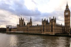 London - Big ben and houses of parliamen Royalty Free Stock Image