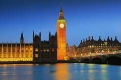 London Big Ben at night. Big Ben and House of Parliament at Night, London, United Kingdom Stock Photography