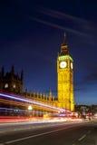 London Big Ben och hus av parlamentet Royaltyfri Fotografi