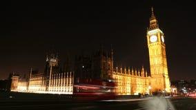 London: Big Ben och hus av parlamentet lager videofilmer