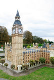 London Big Ben and Parliament in Mini Europe park. BRUSSELS - OCTOBER 4: Miniature model of London Big Ben and Parliament in Mini Europe park. October 4, 2009 royalty free stock photo