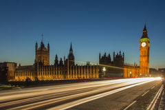London Big Ben. Shot at the evening of Westminster parliament and Big ben in London, England Stock Photos