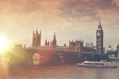 London Big Ben Sunset Stock Images