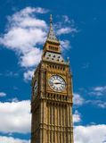 London - Big Ben Tower Clock Stock Images