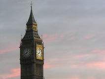 London- big ben tower clock Stock Image