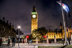 London Big Ben Tower clock Skyline night 2 Stock Photography