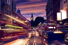 London Big Ben from Trafalgar Square traffic Royalty Free Stock Image