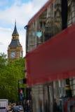 London Big Ben from Trafalgar Square traffic Royalty Free Stock Photography