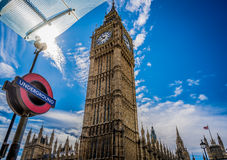 London big Ben underground royalty free stock photo