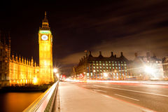 London Big Ben from Westminster Bridge Royalty Free Stock Image