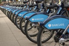 London Bikes Royalty Free Stock Photography