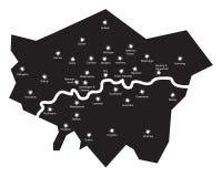 London bis zum Nacht Stockfotos