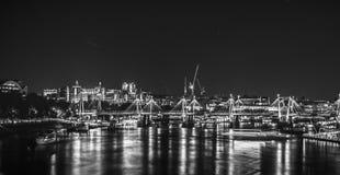 London bis zum Night Lizenzfreies Stockfoto