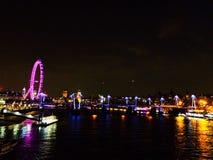 London bis zum Night Stockfotos