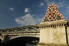 London: Blackfriars Bridge sign Stock Photos
