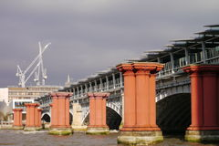 London - Blackfriars Bridge. View of the Blackfriars Old Bridge from the River Thames Royalty Free Stock Images