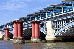 London Blackfriars Railway Bridge Over Thames River Daytime Royalty Free Stock Photography
