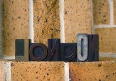London-Block-Druck Lizenzfreies Stockfoto