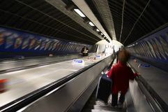 London - blur. Places in London - London Metro - motion blur in the entire image Royalty Free Stock Photos