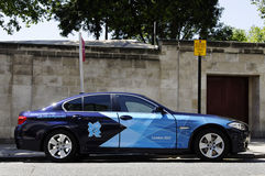 London BMW 2012 5 serie Arkivfoto