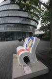 London bokbänkar Arkivbilder